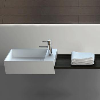 Lave-mains suspendu 35 cm en Solid surface - Manita D