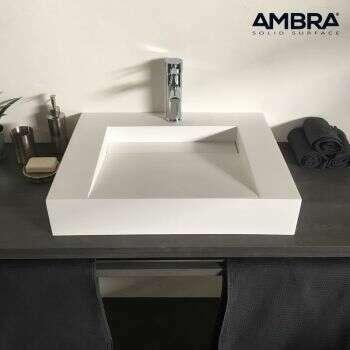 Vasque à poser en solid surface 60 cm - Soko