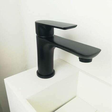 Mitigeur bas en laiton noir pour vasque - Lowy