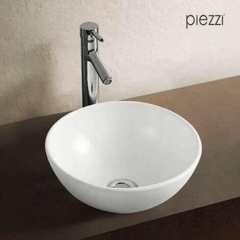 Vasque à poser en céramique blanche, forme bol 32 cm