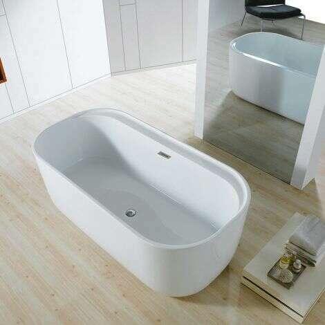 Baignoire ilot ovale en acrylique 150 cm - Ariane