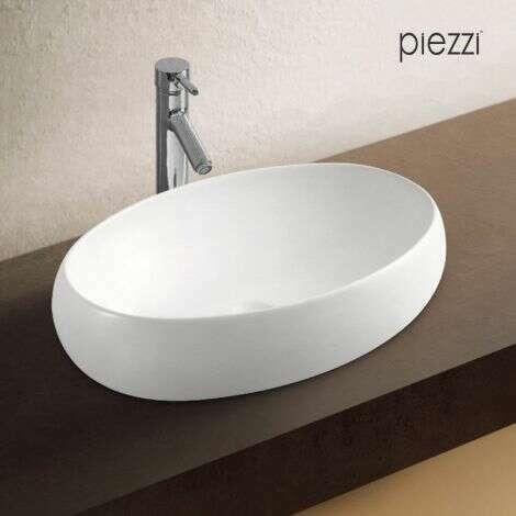 Vasque ovale 60 cm en céramique - Canoé