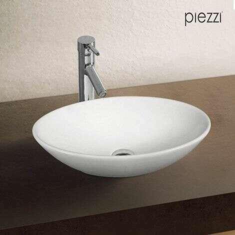 Vasque ovale en céramique blanche - Huvéa