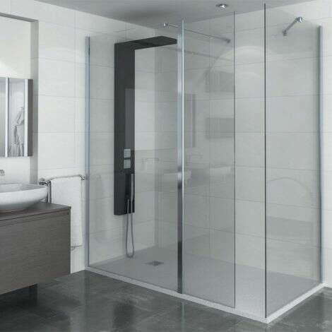 Colonne de douche Kira avec paroi de douche Manhattan Walk-in