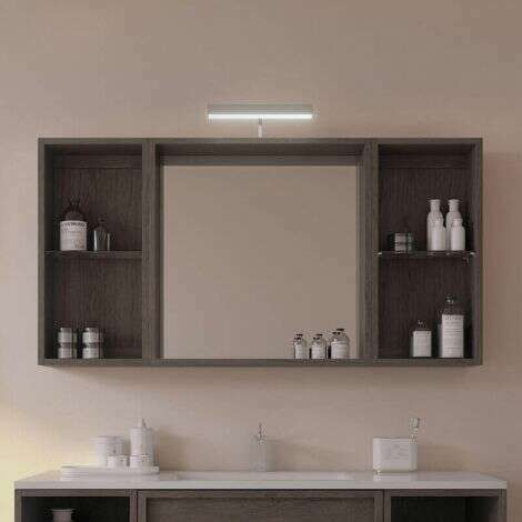 Miroir aspect marron glacé Lag - 2 étagères
