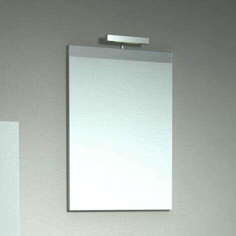 Miroir bandeau 50 cm Chêne blanchi