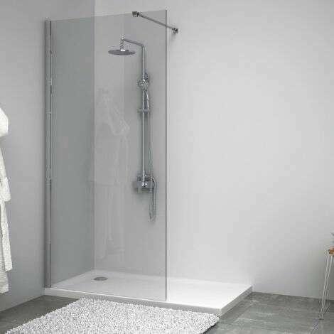 Paroi de douche fixe SINGLE en verre 8 mm