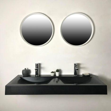 Double vasque à suspendre 120 cm - Eva