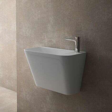 Lave-mains suspendu Prila en céramique 50 cm