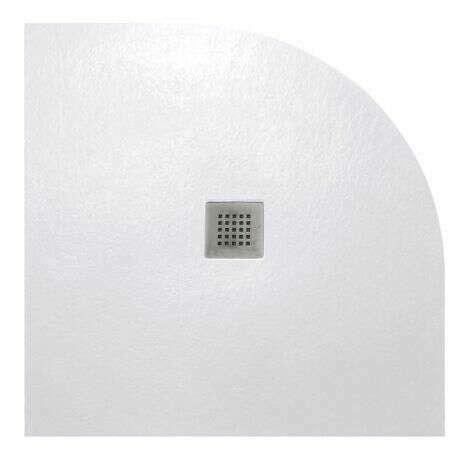 Receveur Strato Quart de cercle 90 cm blanc