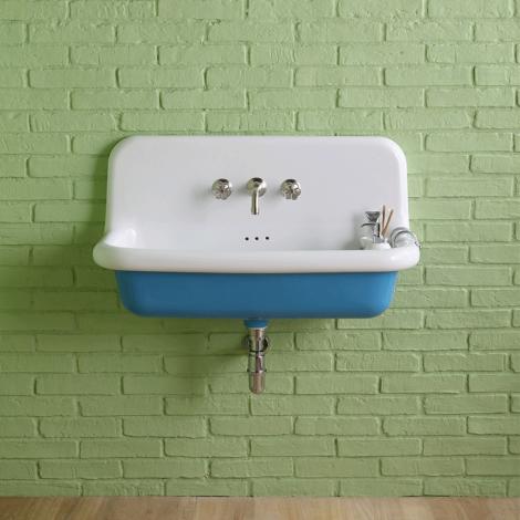 Lavabo école en céramique émaillée 90 cm True Colors - Bleu