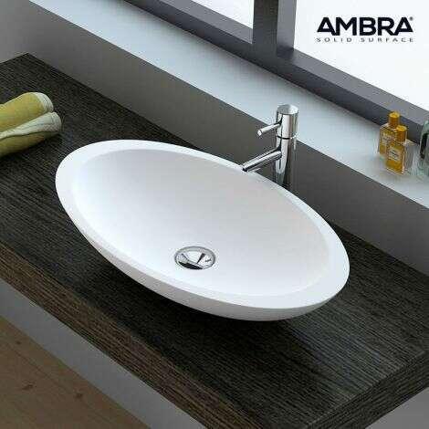 Vasque ovale 60 cm en Solid surface - Fiona