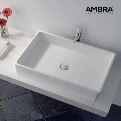 Vasque rectangulaire 80 cm en Solid surface - Malo