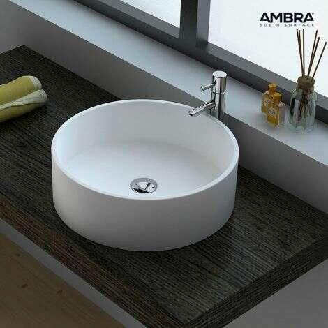 Vasque de salle de bains 45 cm en solid surface
