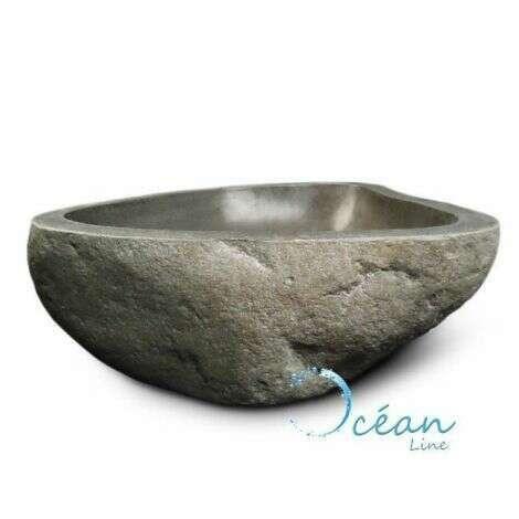 Vasque en pierre naturelle de rivière, galéo
